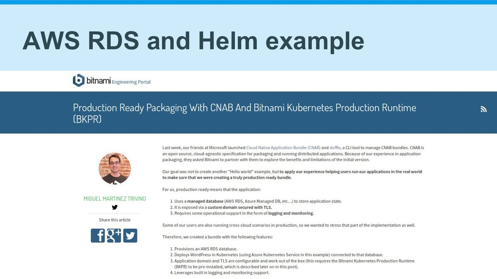 AWS RDS and Helm example