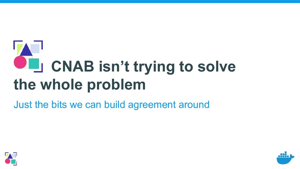 CNAB isn't trying to solve the whole problem Ju...