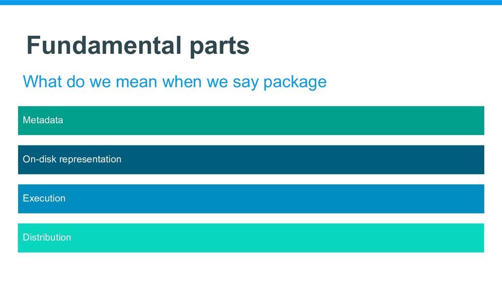 Metadata Fundamental parts What do we mean when...