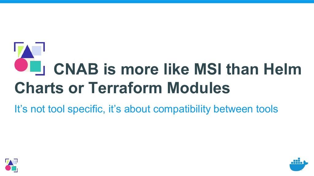 CNAB is more like MSI than Helm Charts or Terra...
