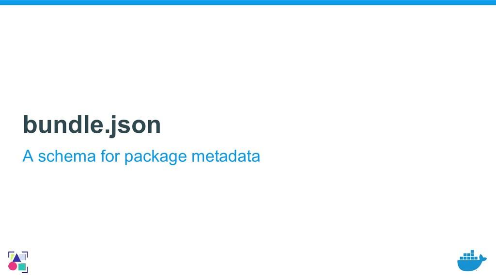 bundle.json A schema for package metadata