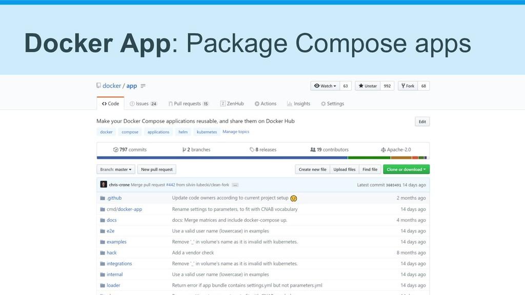 Docker App: Package Compose apps