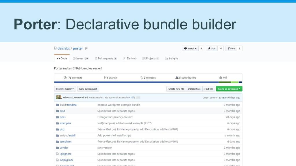 Porter: Declarative bundle builder