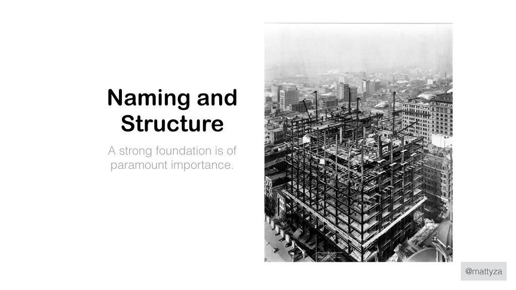 @mattyza Naming and Structure A strong foundati...