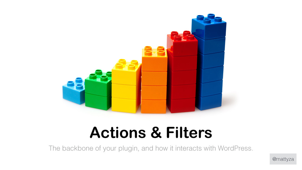 @mattyza Actions & Filters The backbone of your...