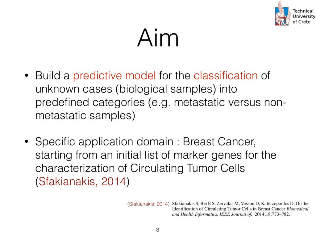 Aim • Build a predictive model for the classific...