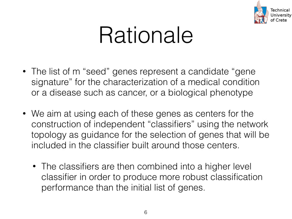 """Rationale • The list of m """"seed"""" genes represen..."""