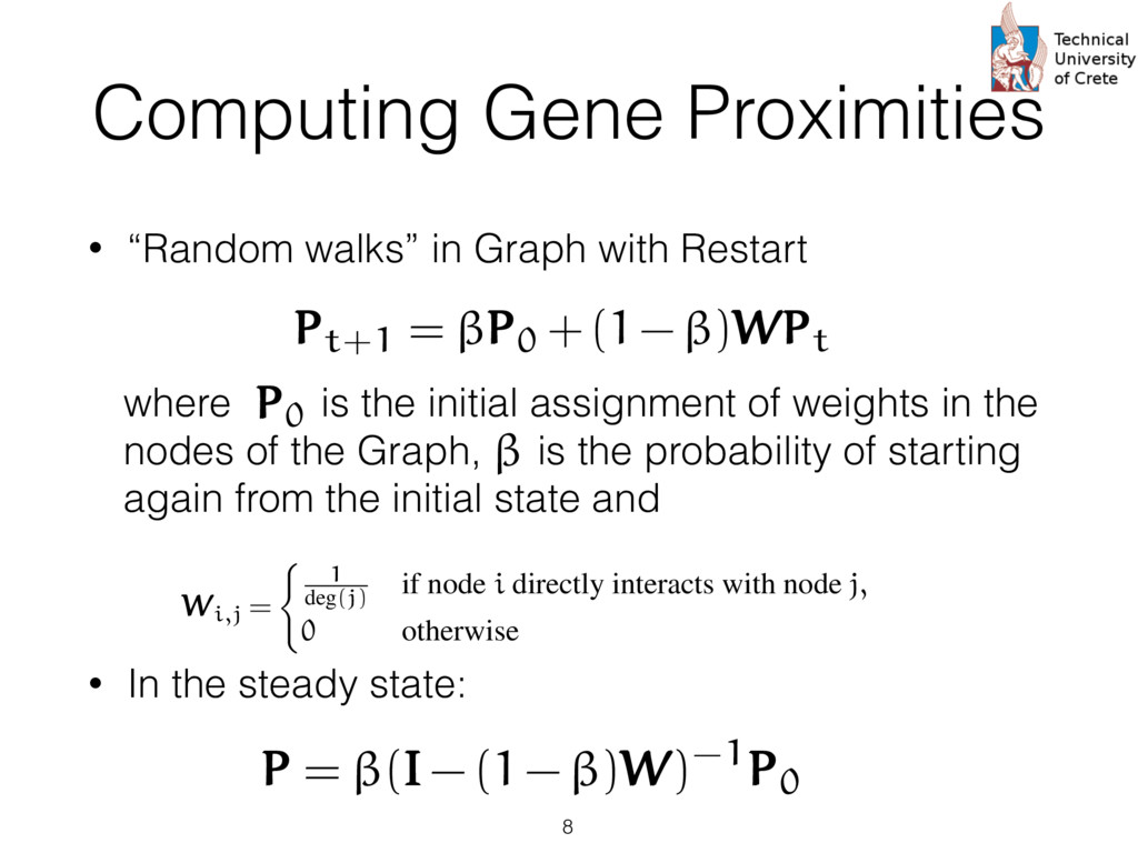 """Computing Gene Proximities • """"Random walks"""" in ..."""