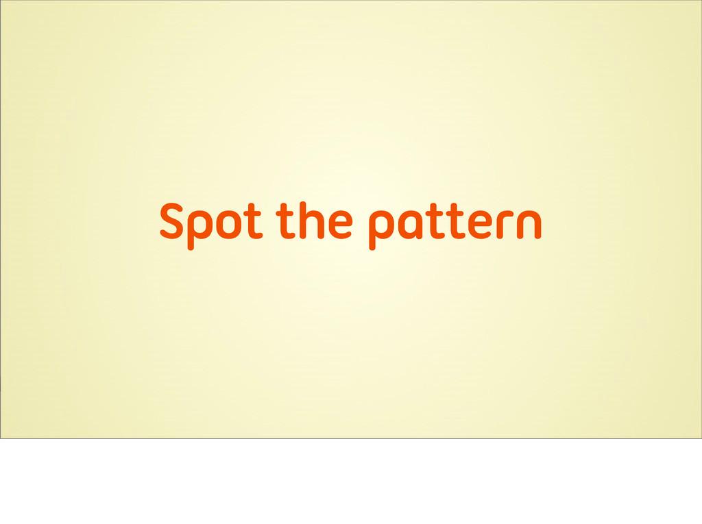 Spot the pattern