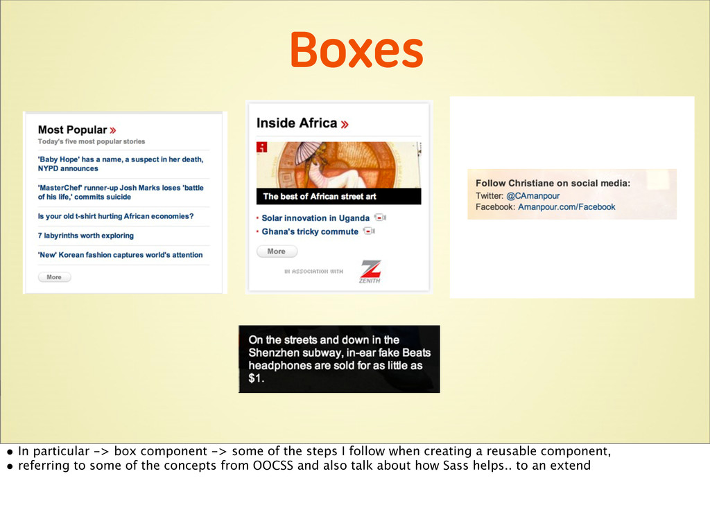 Boxes • In particular -> box component -> some ...