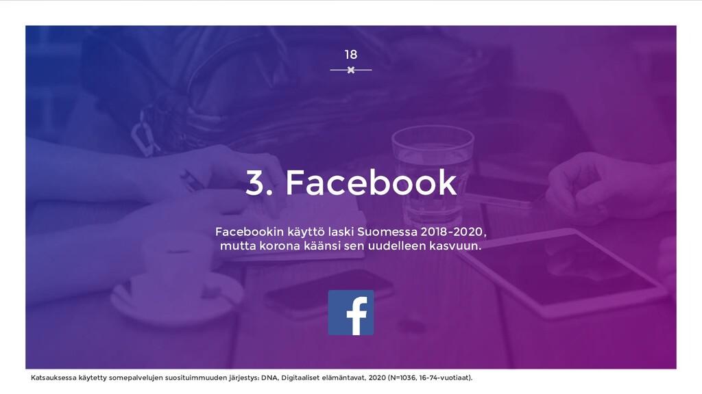 3. Facebook Facebookin käyttö laski Suomessa 20...