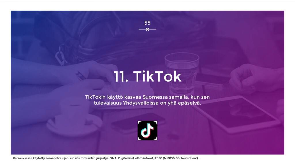 11. TikTok TikTokin käyttö kasvaa Suomessa sama...