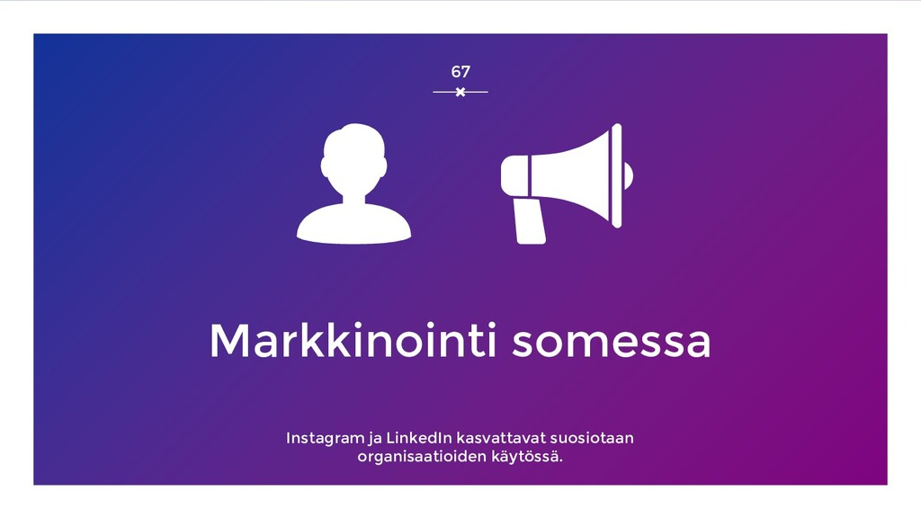 Markkinointi somessa Instagram ja LinkedIn kasv...