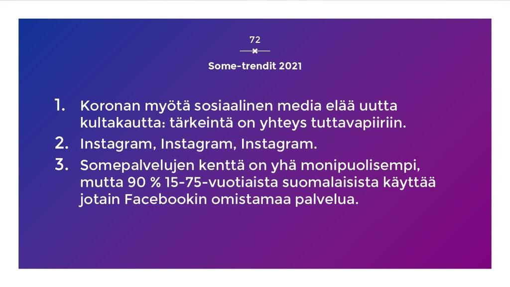 Some-trendit 2021 1. Koronan myötä sosiaalinen ...