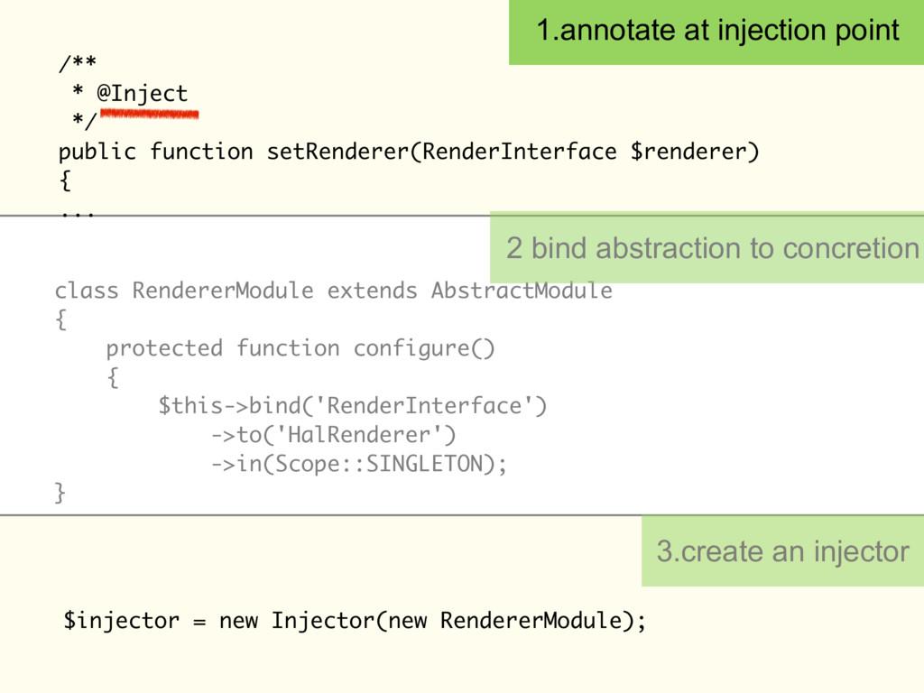 /** * @Inject */ public function setRenderer(Re...