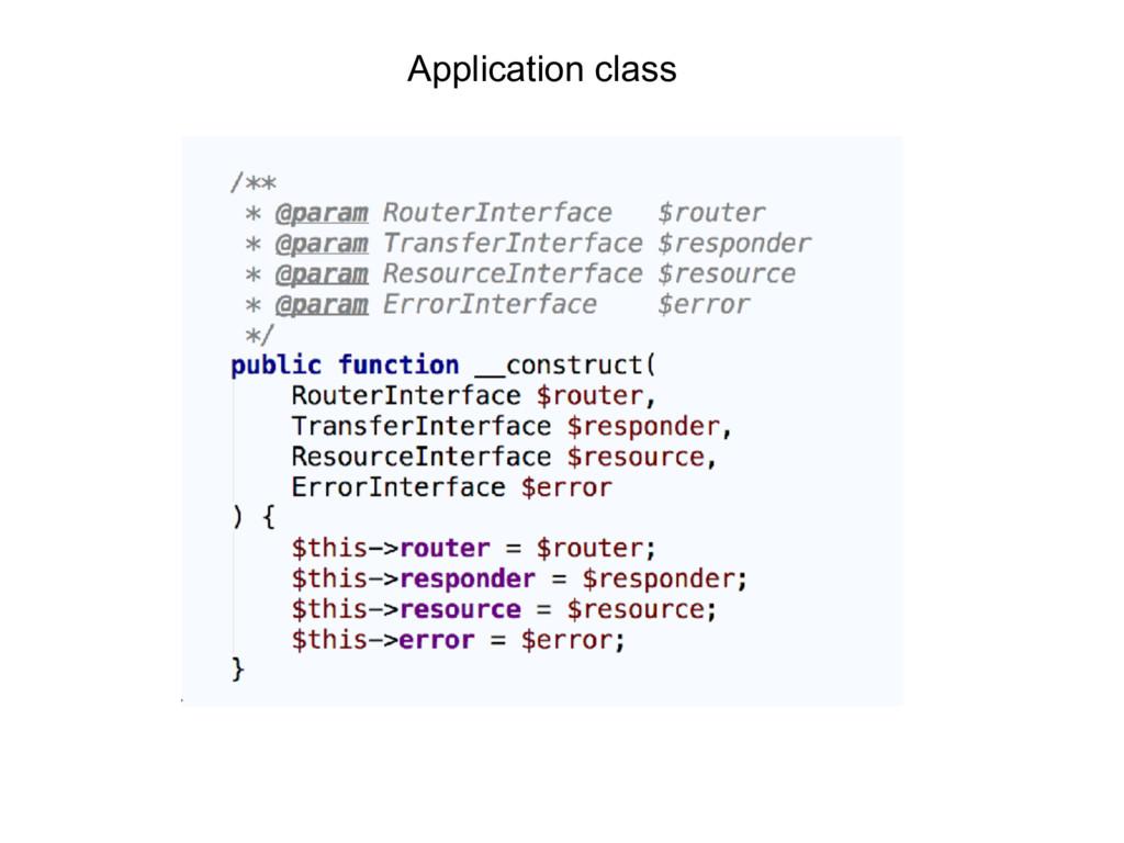 Application class