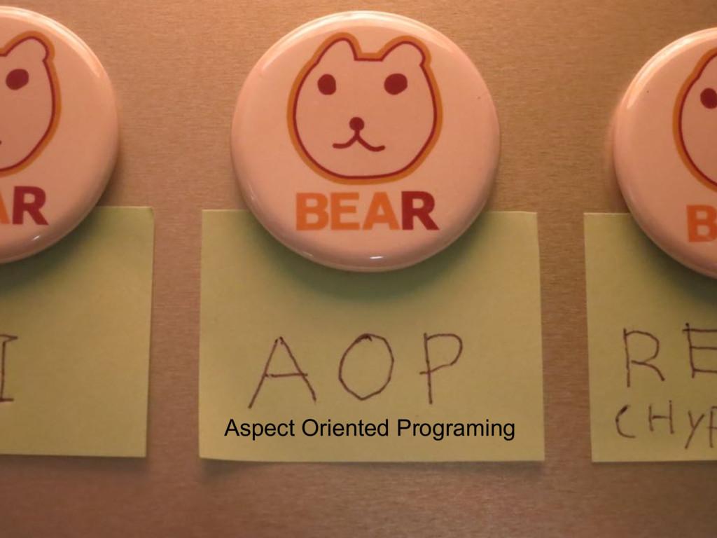 Aspect Oriented Programing