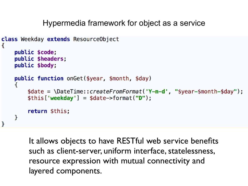 Hypermedia framework for object as a service It...
