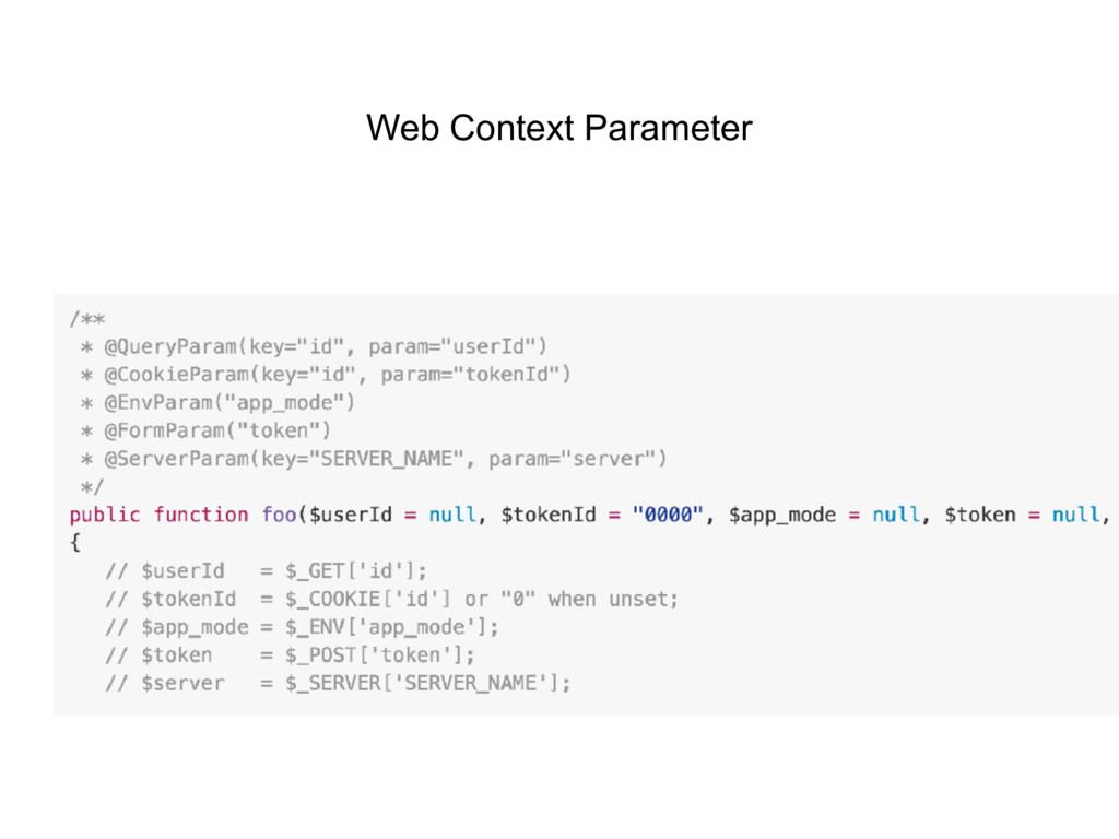 Web Context Parameter
