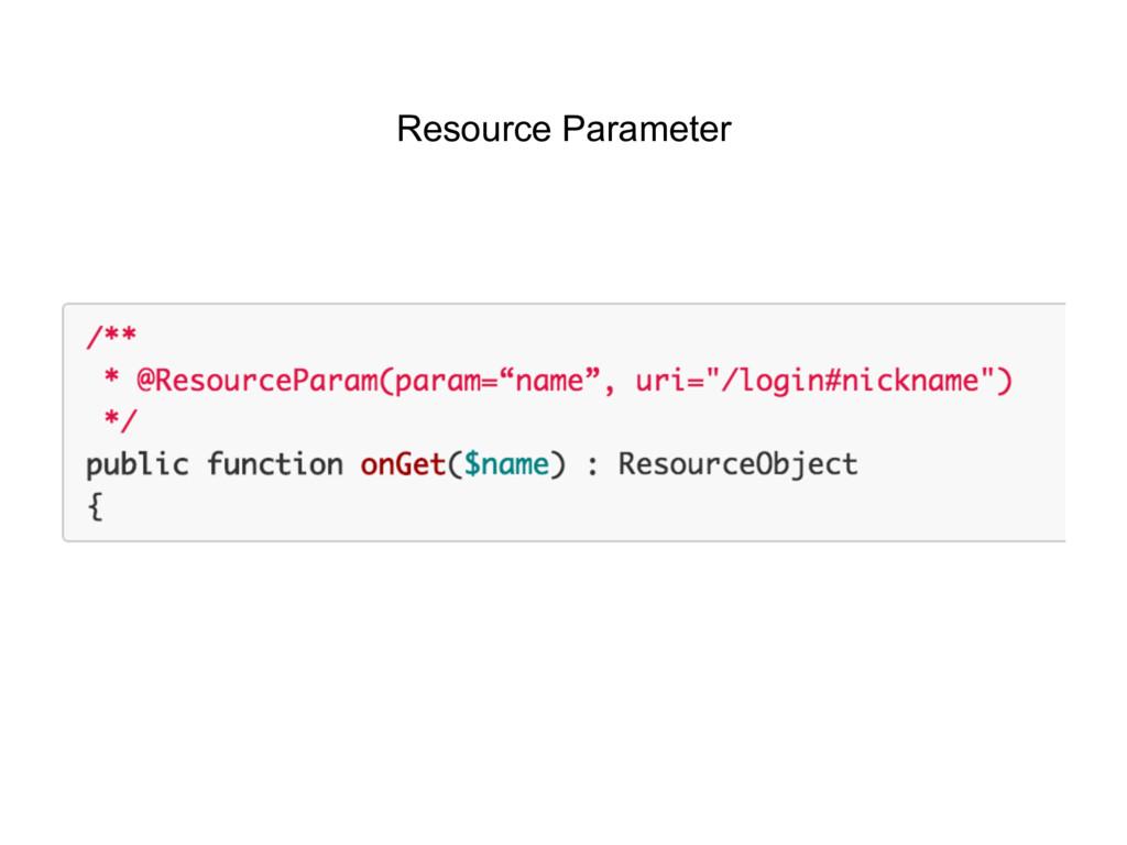 Resource Parameter