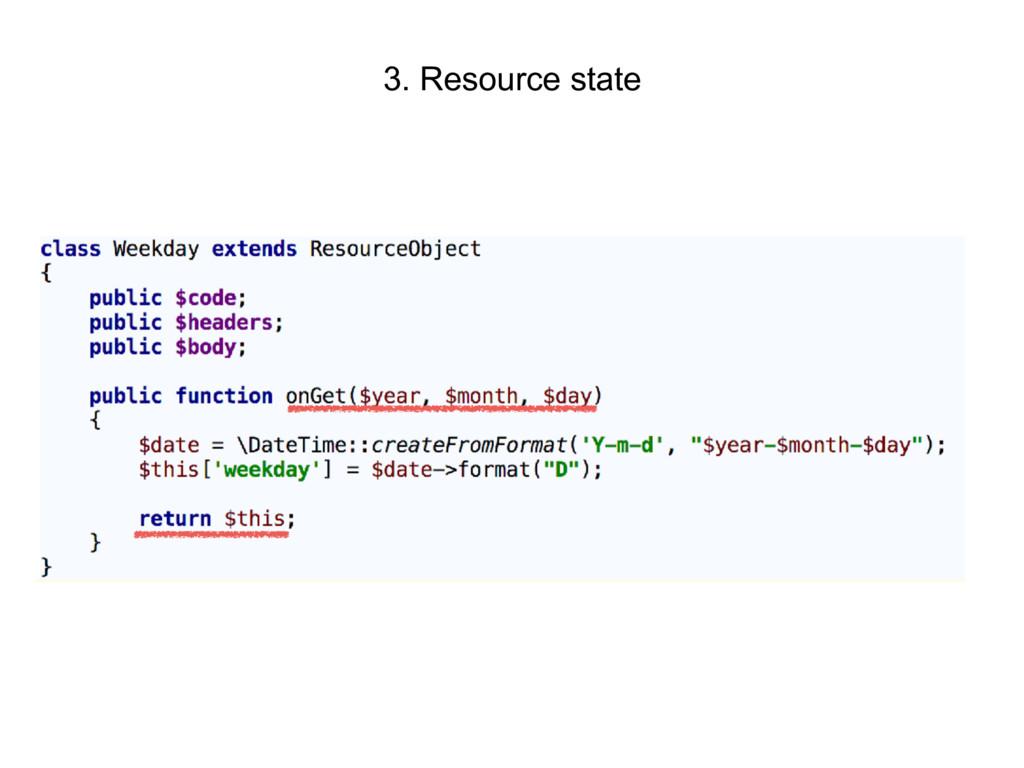 3. Resource state