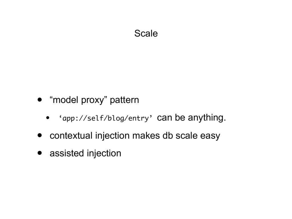 """Scale • """"model proxy"""" pattern • 'app://self/blo..."""