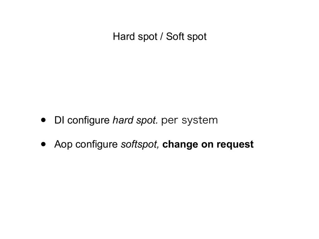 Hard spot / Soft spot • DI configure hard spot....