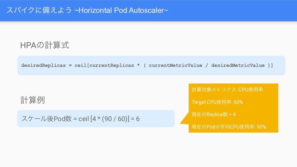 εύΠΫʹඋ͑Α͏ ~Horizontal Pod Autoscaler~ HPAͷܭࣜ d...