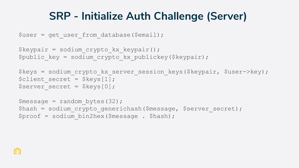 $user = get_user_from_database($email); $keypai...