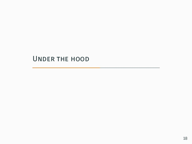Under the hood 18