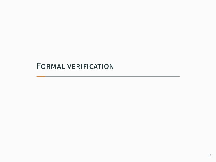 Formal verification 2