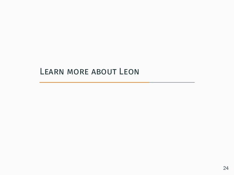 Learn more about Leon 24