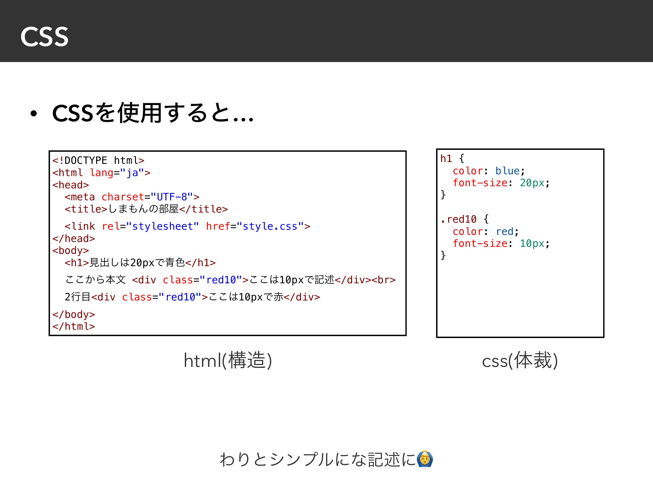 """CSS • CSSΛ༻͢Δͱ… <!DOCTYPE html> <html lang=""""ja..."""