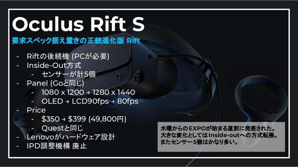 28 Oculus Rift S 要求スペック据え置きの正統進化版 Rift - Riftの後...