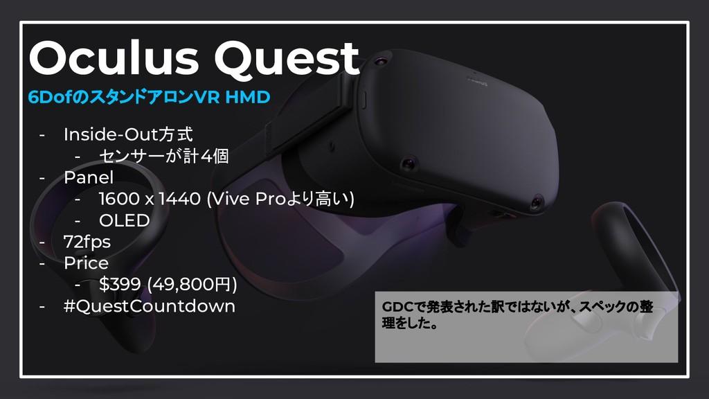 30 Oculus Quest 6DofのスタンドアロンVR HMD - Inside-Out...