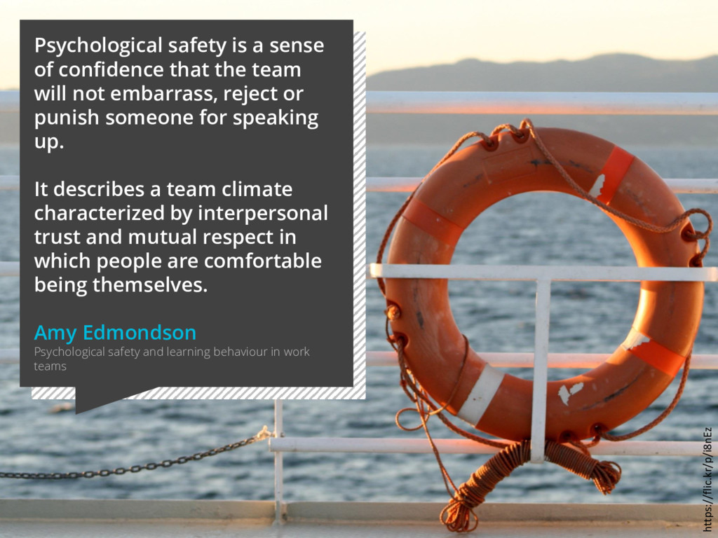 Psychological safety is a sense of confidence t...