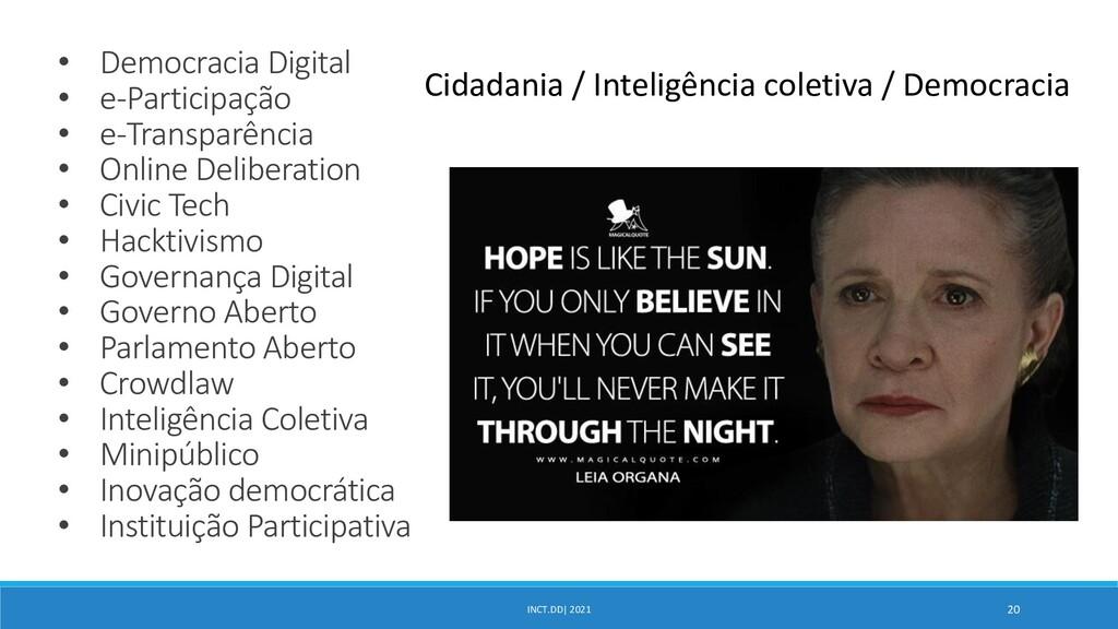 INCT.DD  2021 20 • Democracia Digital • e-Parti...