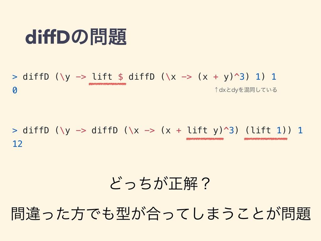 diffDͷ > diffD (\y -> lift $ diffD (\x -> (x ...