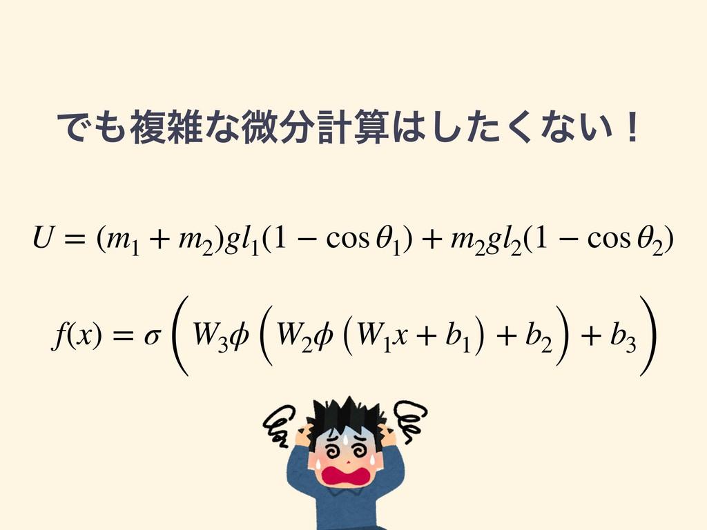 Ͱෳͳඍܭͨ͘͠ͳ͍ʂ f(x) = σ (W3 ϕ (W2 ϕ (W1 x + b...