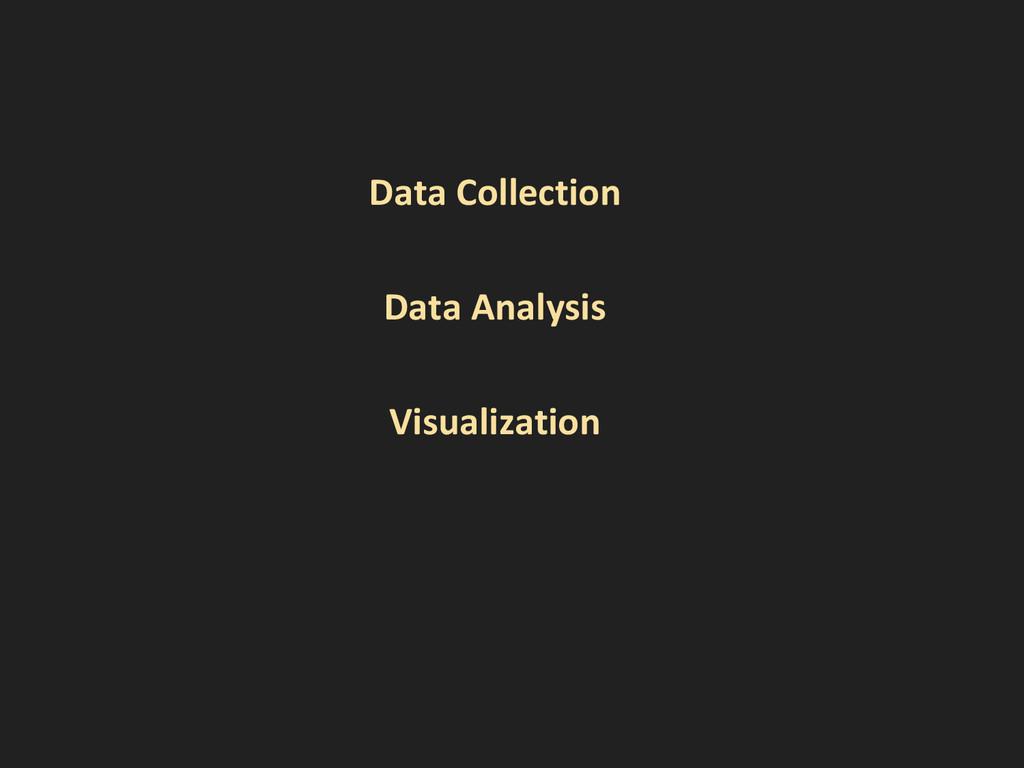 Data Collection Data Analysis Visualization