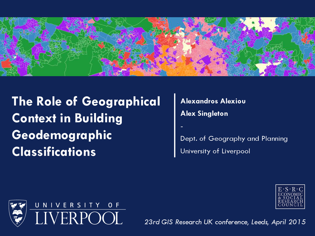 The Role of Geographical Context in Building Ge...