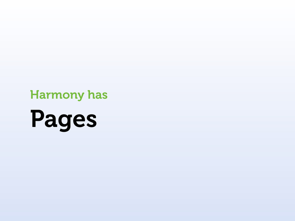 Pages Harmony has