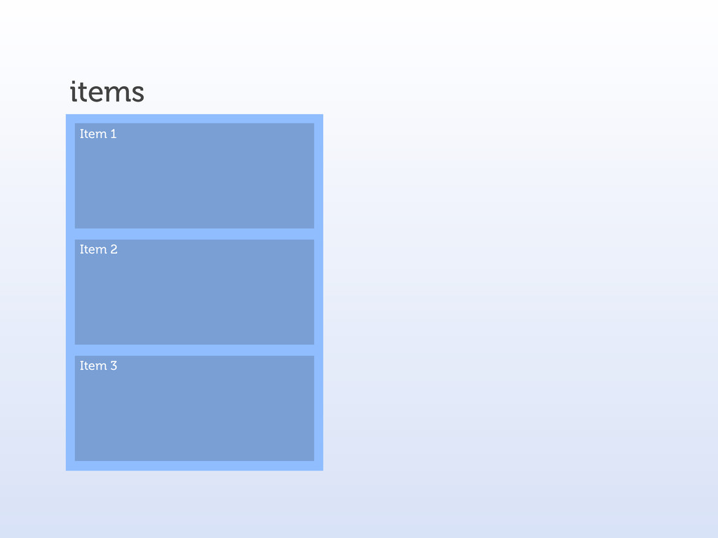 items Item 1 Item 2 Item 3