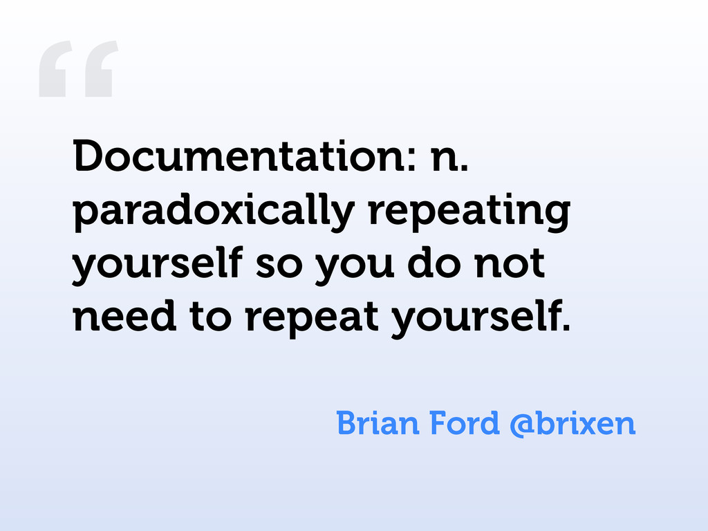 """ Brian Ford @brixen Documentation: n. paradoxi..."