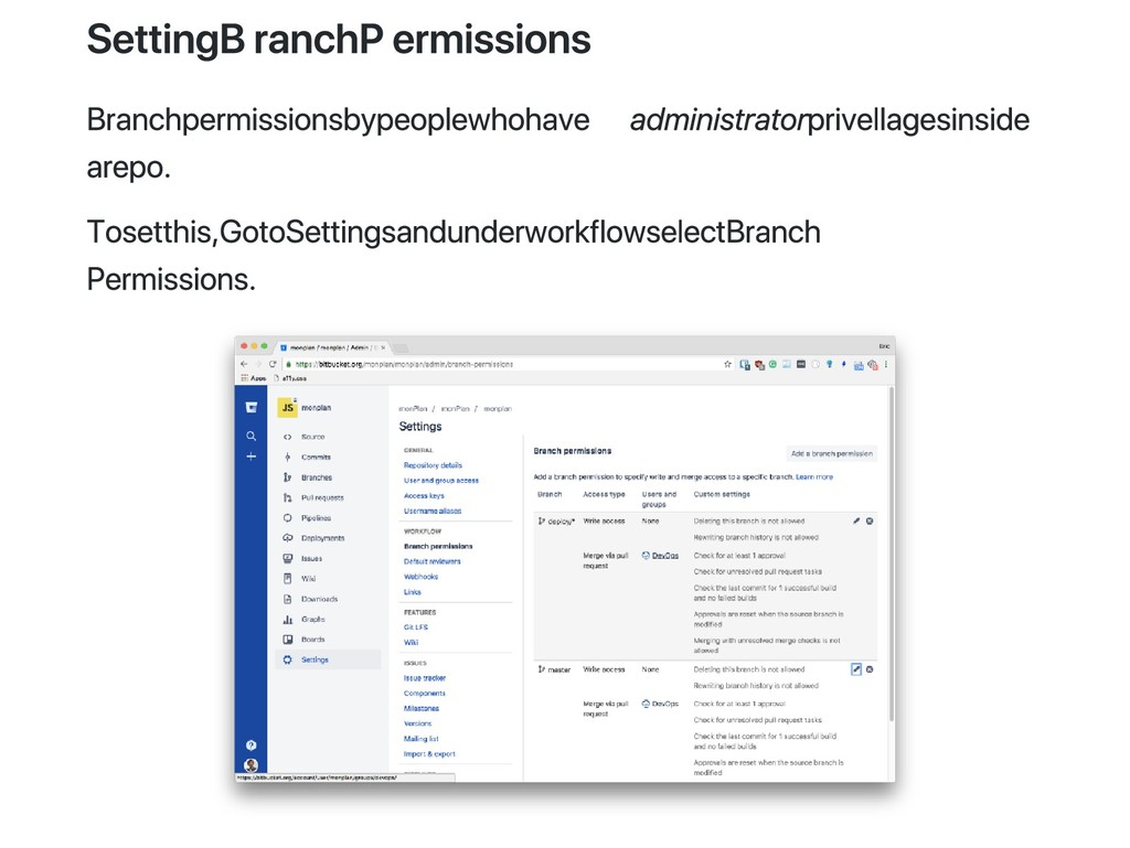 Setting Branch Permissions Branch permissions b...