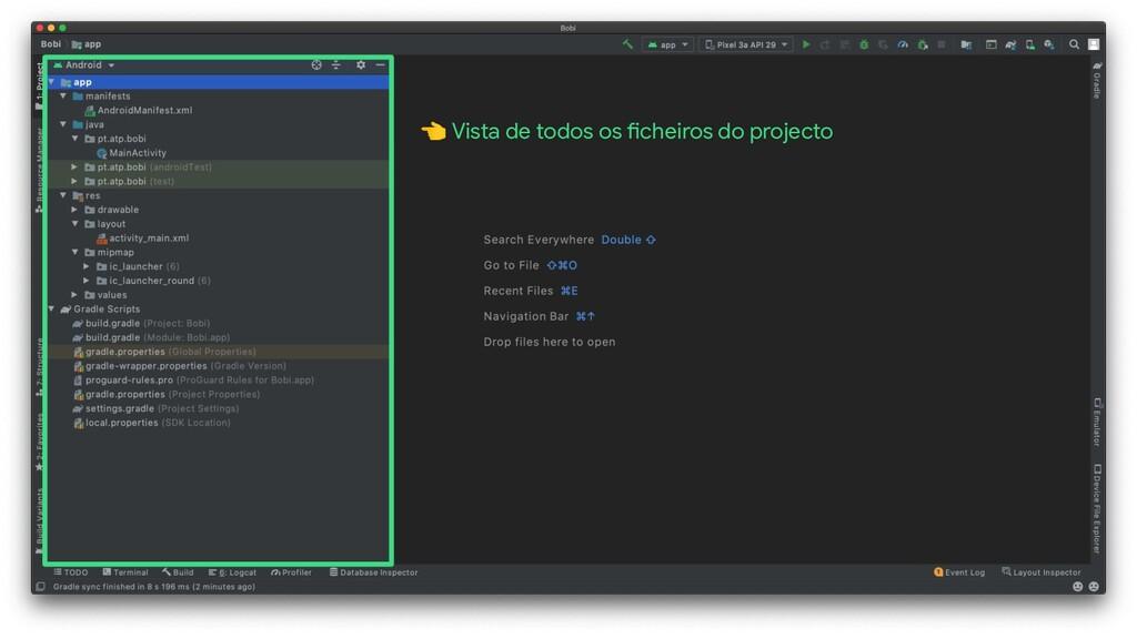 Vista de todos os ficheiros do projecto
