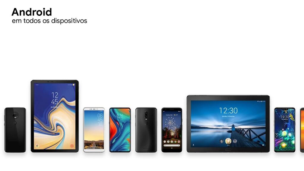 em todos os dispositivos Android
