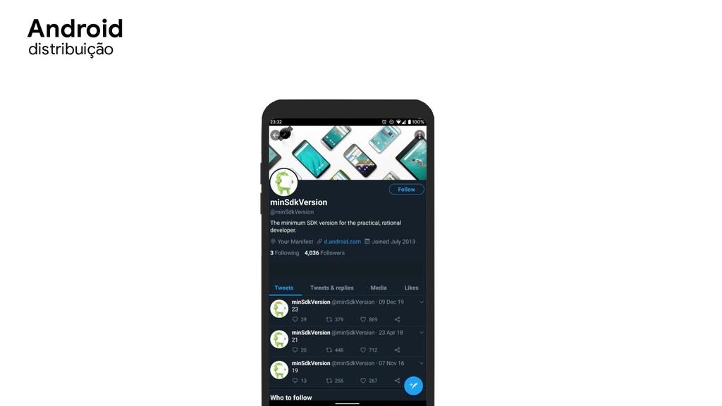 distribuição Android