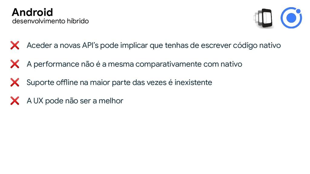 ❌ Aceder a novas API's pode implicar que tenhas...