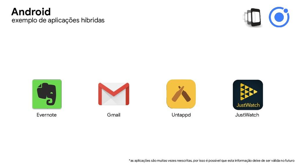 Evernote Gmail Untappd JustWatch *as aplicações...